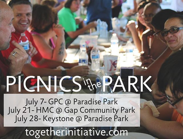 Mark your calendars for Picnics in the Park, Fridays in July at 5:30pm. The location will alternate between Paradise Park and Gap Community Park. They are sponsored by our Together Churches. Join us for a meal, bring your family, and get to know our wonderful community!  July 7th, Sponsored By Grace Point Church at Paradise Park July 14th, NO PICNIC THIS WEEK July 21st, Sponsored By Hershey Mennonite Church at Gap Community Park July 28th, Sponsored By Keystone Church  Paradise Park  #storiesofourcommunity #factorystories #investinCOMMUNITY