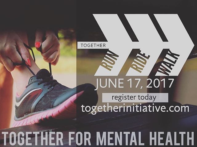 Join us for the Together Run Ride Walk June 17th! Register today: tiny.cc/2017RRW #togetherformentalhealth