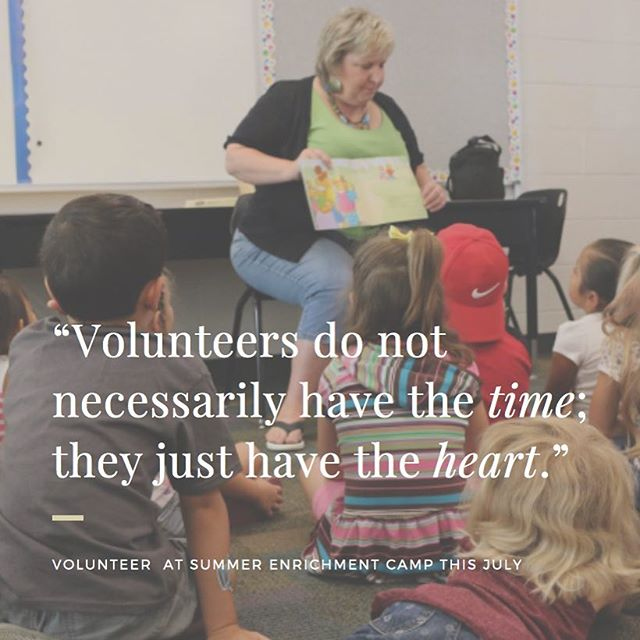 Volunteer at Summer Enrichment Camp (Tuesdays-Thursdays) in July! Sign up today: tiny.cc/2017SEC #thankyoufordoingGOOD
