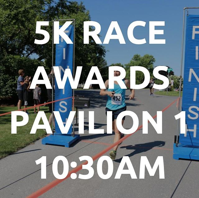 5K Race Awards at 10:30AM at Pavilion 1! See you there!  There will be medals awarded to the top male and female runners of each age category, as well as trophies for the overall top male and female runner.  #togetherforEDUCATION #TogetherRunRideWalk