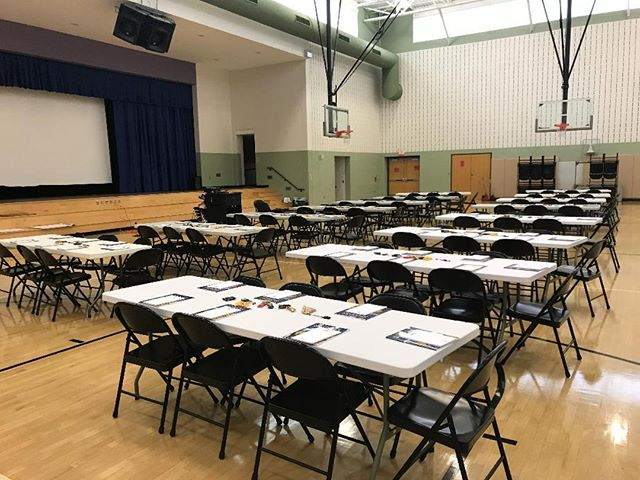 Tables are set for tomorrow's Bridges out of Poverty training at Paradise Elementary! We are excited to gather with local organizations in addressing poverty and learning how to better empower our communities.  #addresspoverty @ahaprocess