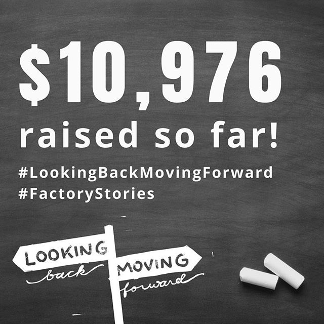 Fundraising update!  Thanks to your generous gifts, $10,976 has been raised since August 1st to empower individuals and families in our community!  Thank you for your support!  That is 22% if our $50,000 goal.  #LookingBackMovingForward #factorystories