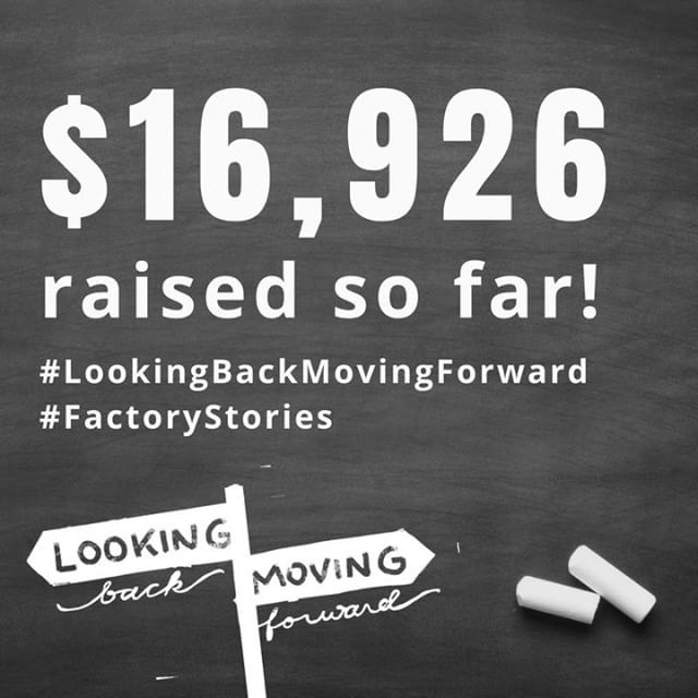 Fundraising update!  Thanks to your generous gifts, $16,926 has been raised since August 1st to empower individuals and families in our community! Thank you for your support! That is 34% of our $50,000 goal.  Join the team moving forward! Visit http://tiny.cc/lookingBACKmovingFORWARD to give today! #LookingBackMovingForward #FactoryStories