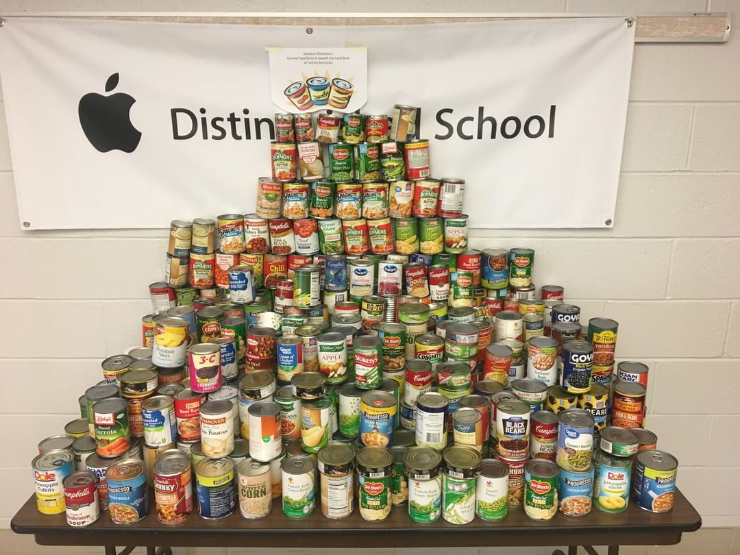 Students from Salisbury Elementary School made an incredible donation of canned goods to The Factory Food Pantry! We are grateful to all of the students who helped collect the food items. #FactoryLIGHTS