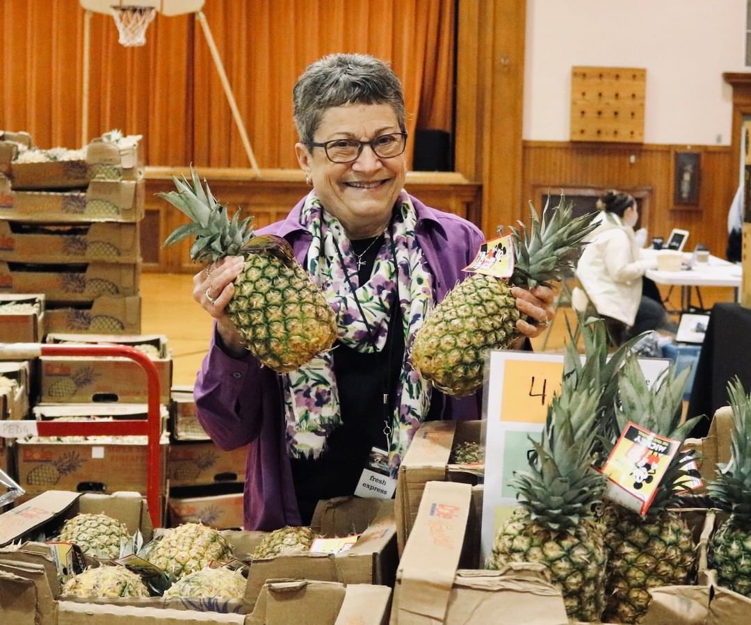 Meet Marie! She is a faithful Factory volunteer, doing anything from sitting at the front desk to helping distribute 36 flats of donated pineapples at Fresh Express. Marie is a kind and welcoming presence at the Together Community Center! THANK YOU to all of our volunteers for choosing to invest time in your community.  #VolunteerAppreciationMonth