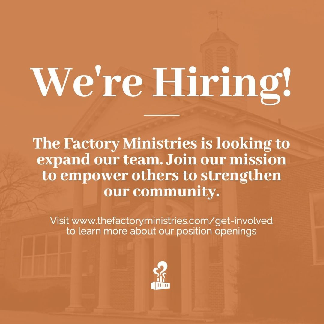 Visit www.thefactoryministries.com/get-involved to find out how you may be able to join our team. We'd love to hear from you!