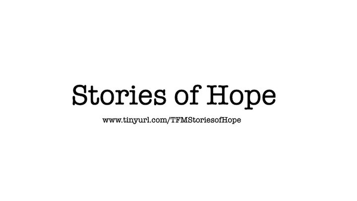 Throughout the rest of May, we will be sharing 3 stories of hope in our community. Stay tuned for new videos each week! Your gifts are empowering people in our community by providing tools and resources to overcome their circumstances. Your gifts continue writing the community narrative of hope through The Factory Ministries. Visit www.tinyurl.com/TFMStoriesofHope to join the narrative through giving