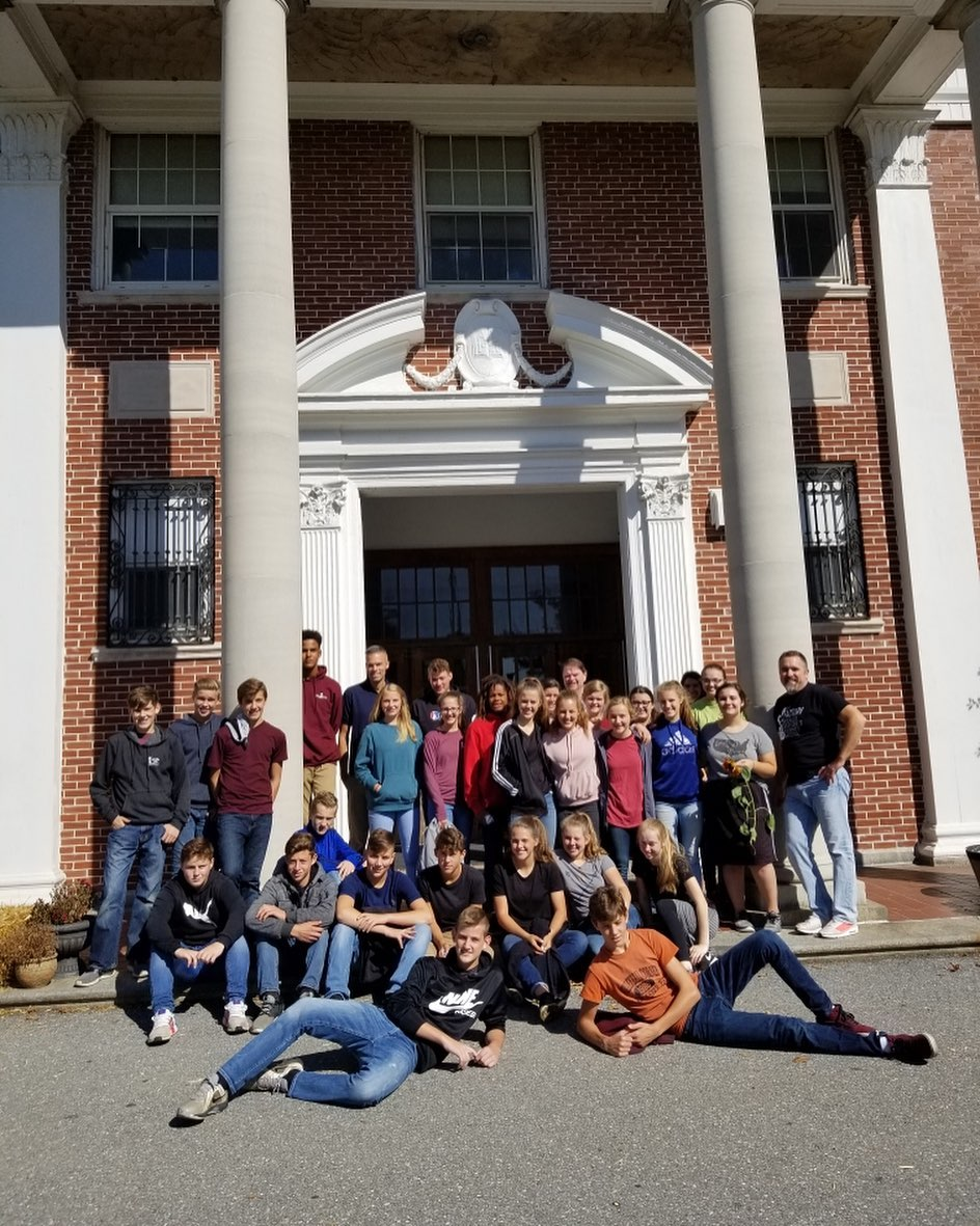 Thank you @linville_hill students for volunteering at The Factory today, the TCC looks incredible!
