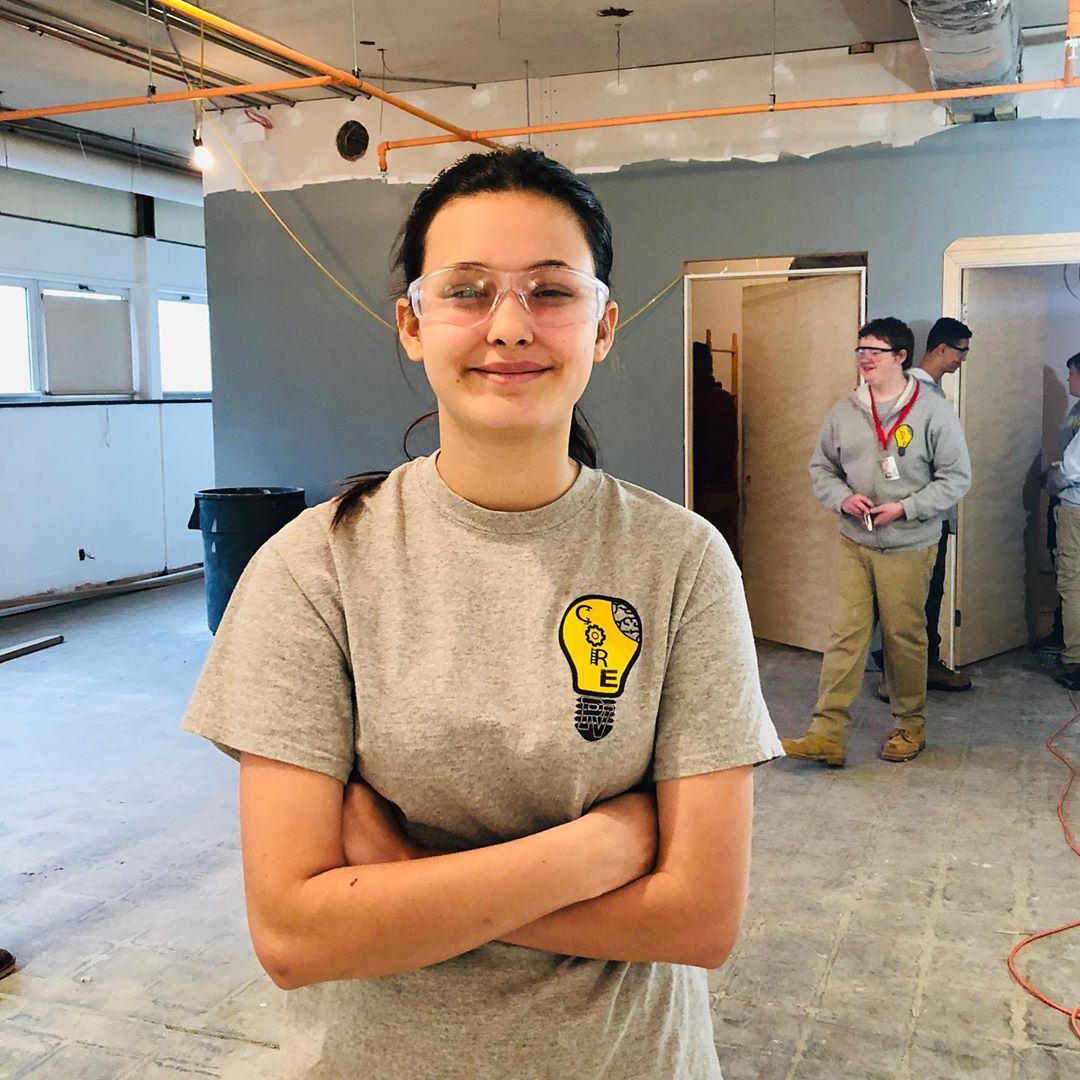 Meet Journey! She is a part of the @pequeavalley C.O.R.E. program which helps students apply classroom learning to real life situations. The C.O.R.E team has been helping to renovate The Factory Ministries transitional housing center which is set to open in January! Today, the C.O.R.E. team was visited by @wgal8 and @abc27news to share about how they are using their education to serve their classmates and neighbors.