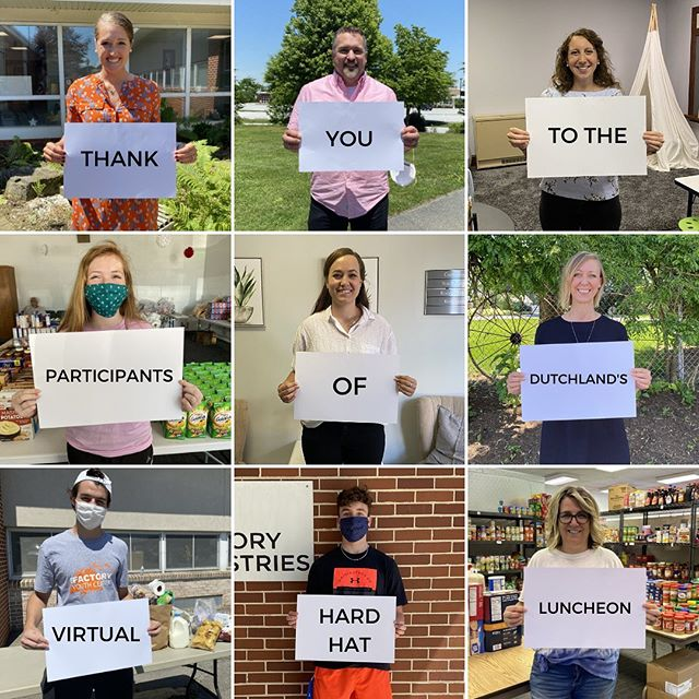 Huge thanks to the participants of Dutchland Inc.'s Virtual Hard Hat Luncheon at the Port Deposit WWTP! We are so thankful for the generous donation the participants made to our Factory community! #InThisTogether